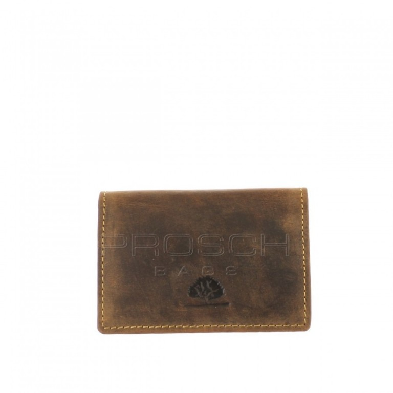Kožené pouzdro na karty Greenburry 1684-25 hnědé
