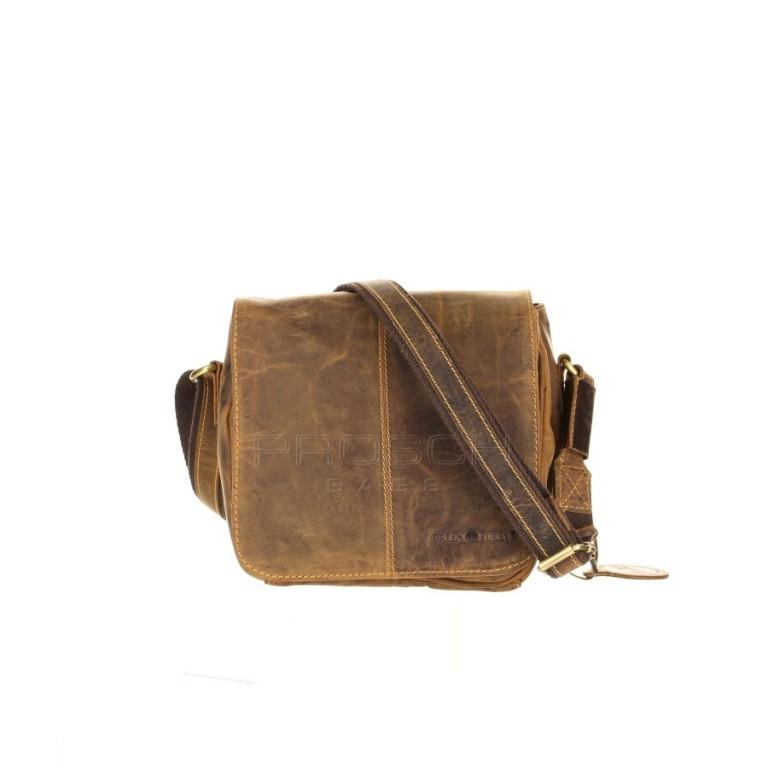 Kožená taška Greenburry 1724-25 hnědá