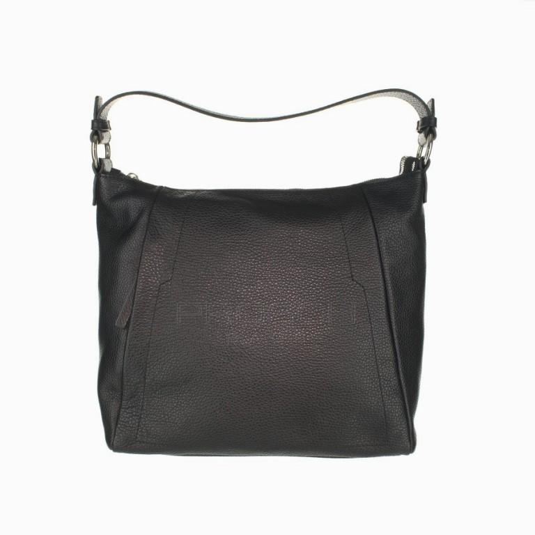 Kožená kabelka Aurora Prestige Egeo M černá