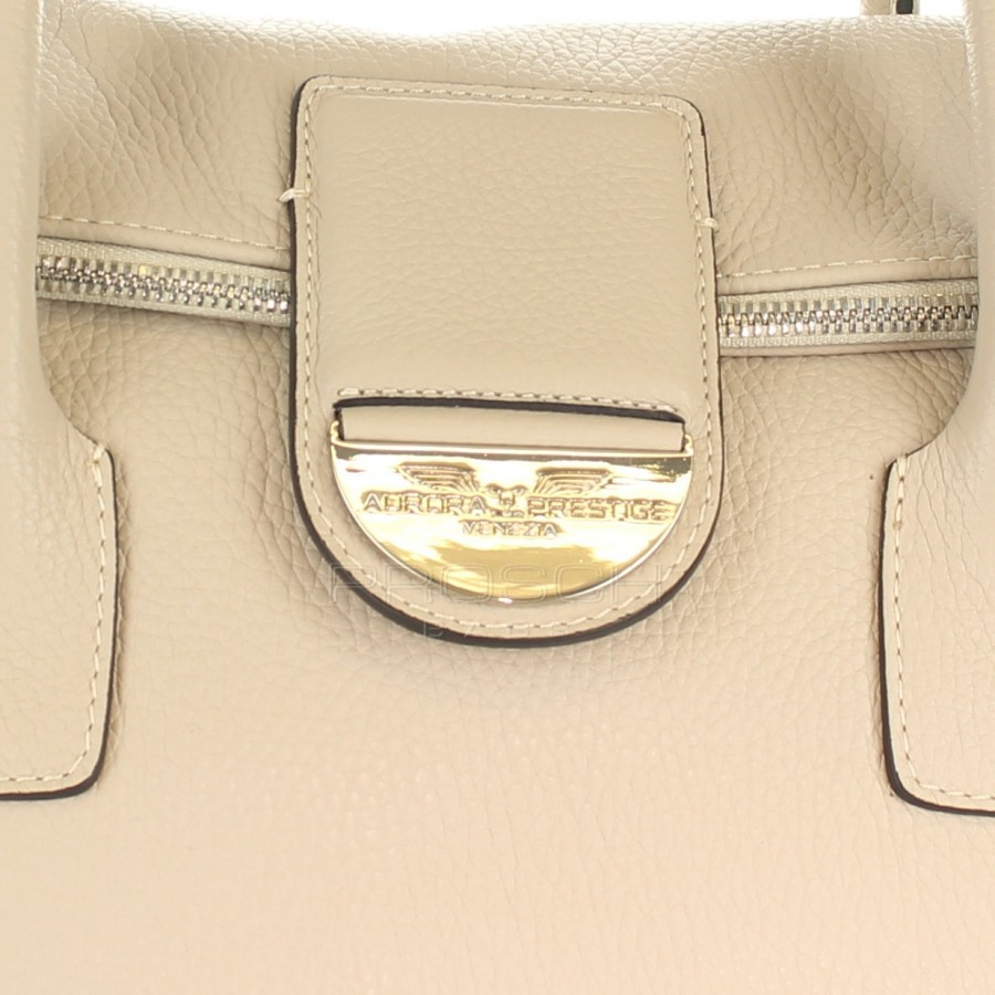 357824635181 Kožená kabelka AURORA London M béžová