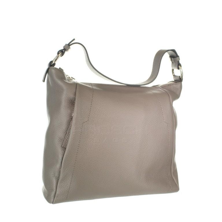 Kožená kabelka Aurora Prestige Egeo M šedá