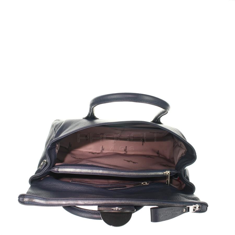 85aa52f8f9 Kožená kabelka AURORA London L tmavě modrá