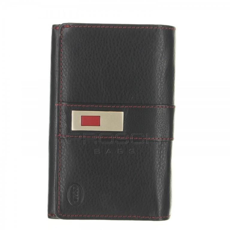 Dámská kožená peněženka Brasil 6022F černo/červená