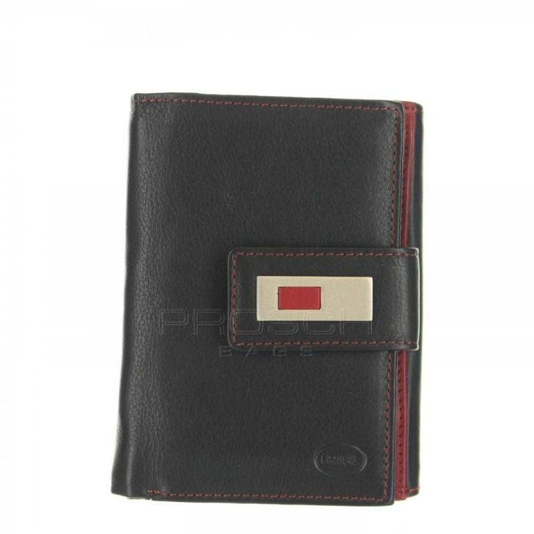 Dámská kožená peněženka Brasil 3063 černo červená Zboží ... 2a5e6ed7ac