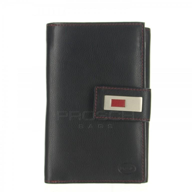Dámská kožená peněženka Brasil 3061 černo/červená