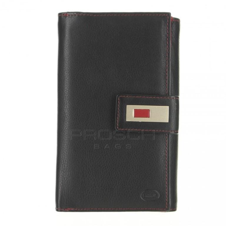 Dámská kožená peněženka Brasil 3060 černo/červená