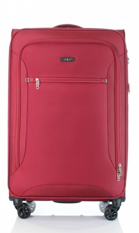 Velký cestovní kufr D&N 6474-12 bordový