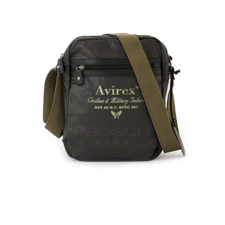 Pánská taška Avirex Alifax-A5 Tmavě hnědá