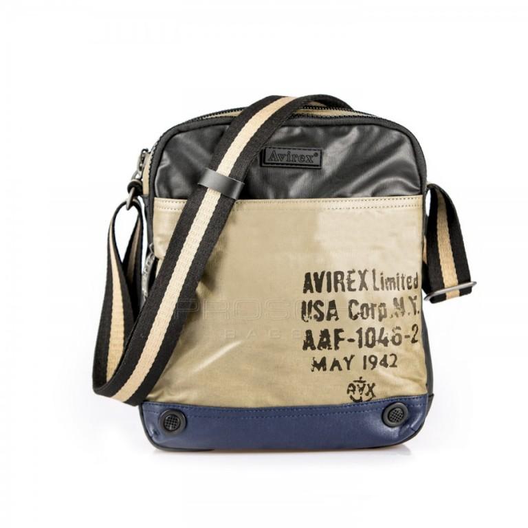 Pánská taška Avirex 1492-02A modrá-béžová-černá
