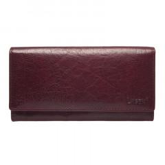 Dámská kožená peněženka LAGEN V-102/T tm.červená č.1