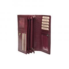 Dámská kožená peněženka LAGEN V-102/T tm.červená č.2