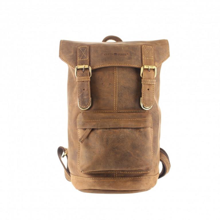 Kožený batoh Retro Greenburry 1689S-25 hnědý