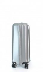 Kabinový cestovní kufr D&N 8150-13 stříbrný č.4