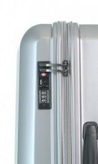 Kabinový cestovní kufr D&N 8150-13 stříbrný č.6