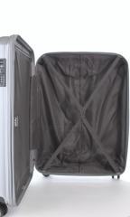 Kabinový cestovní kufr D&N 8150-13 stříbrný č.11