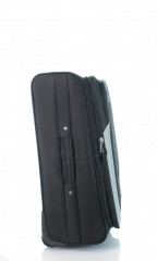Střední cestovní kufr D&N 7260-01 černo-šedý č.4