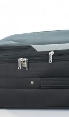 Střední cestovní kufr D&N 7260-01 černo-šedý č.9