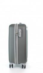 Kabinový cestovní kufr D&N 9650-13 šedý č.2