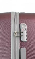 Střední cestovní kufr D&N 9660-12 bordový č.6