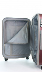 Střední cestovní kufr D&N 9660-12 bordový č.10