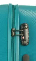 Kabinový cestovní kufr D&N 8250-05 petrol č.6