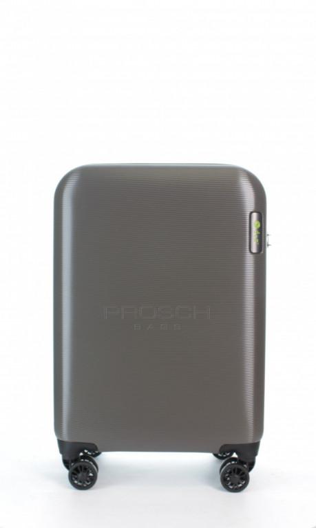 Kabinový cestovní kufr D&N 8250-13 stříbrný
