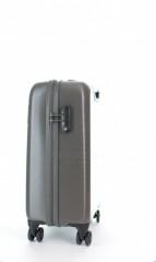 Kabinový cestovní kufr D&N 8250-13 stříbrný č.2