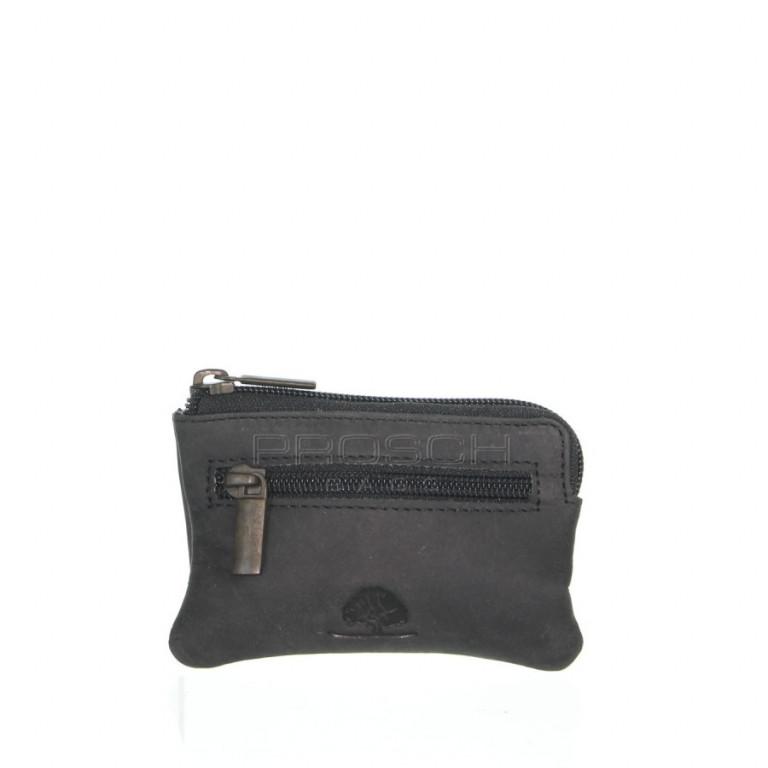 Kožená klíčenka Greenburry Revival 1960-20 černá