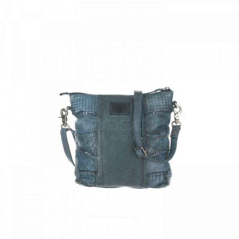 Kožená kabelka Greenburry D555-27 Blue