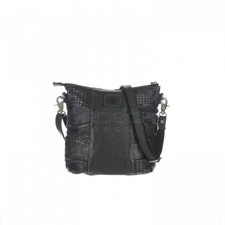 Kožená kabelka Greenburry D555-20 Black