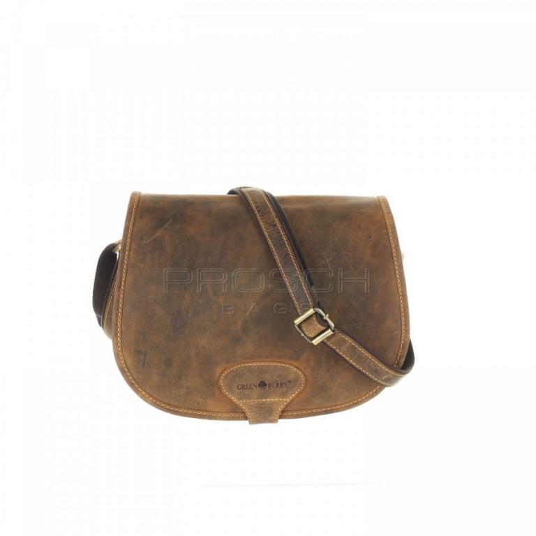 Kožená kabelka Greenburry 1638-25 hnědá