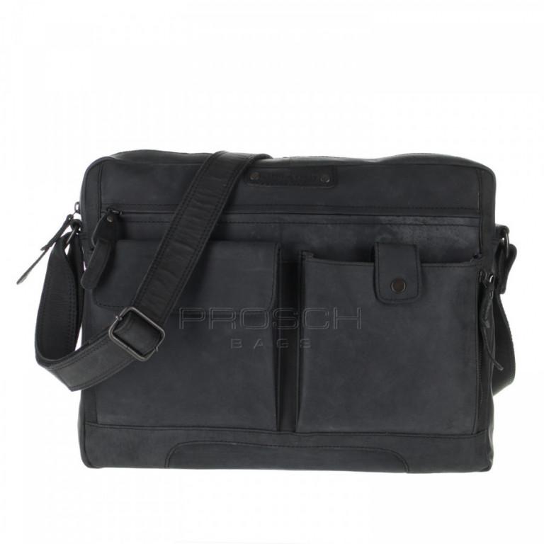 Kožená taška Greenburry Revival 1963-20 černá