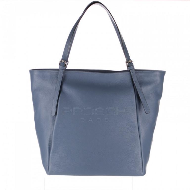 Kožená kabelka Aurora Prestige Egeo-L modrá