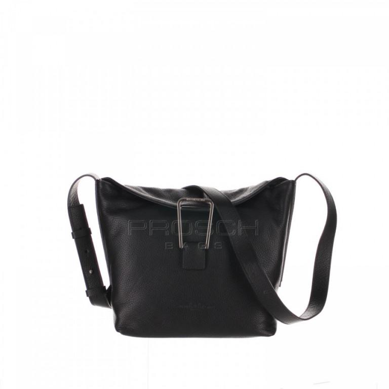 Kožená kabelka Aurora Prestige Berlin-S černá