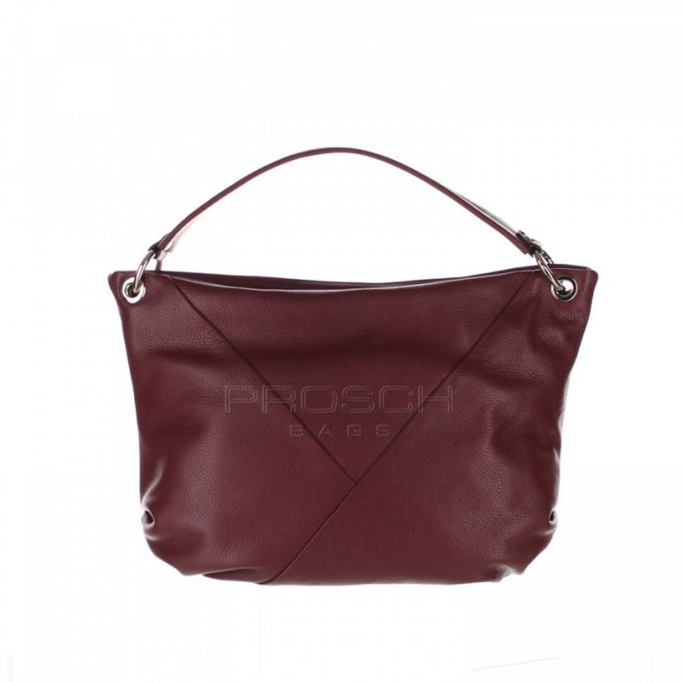 Kožená kabelka Aurora Prestige Sorrento-M bordová