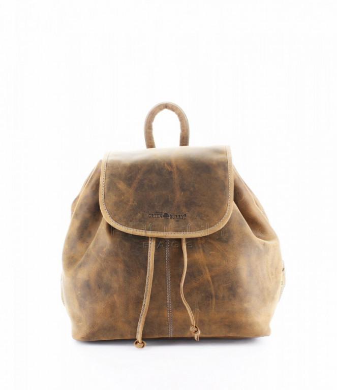 Kožený batůžek Greenburry Santana 1617-25 hnědá