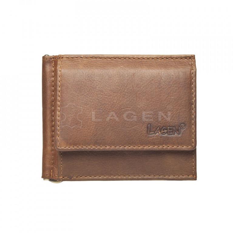 Dolarovka kožená LAGEN 1999/V BROWN