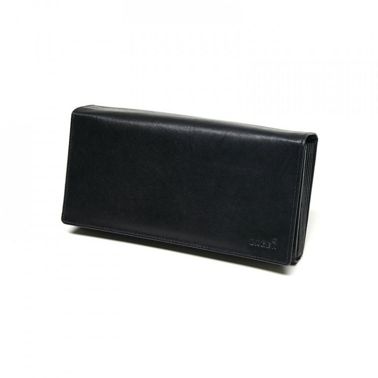 Kožená kasírka LAGEN LG-01 černá