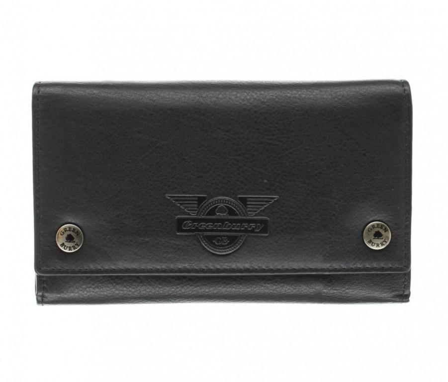 Kožená peněženka Greenburry 1820S-Wing-20 černá