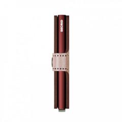 Miniwallet Secrid Metallic Rose-Bordeaux č.6