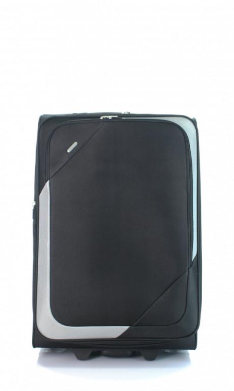 Střední cestovní kufr D&N 7260-01 černo-šedý