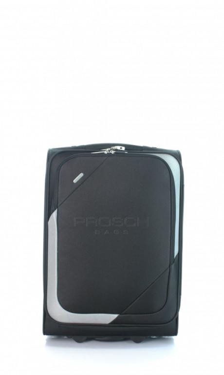 Kabinový cestovní kufr D&N 7250-01 černo-šedý