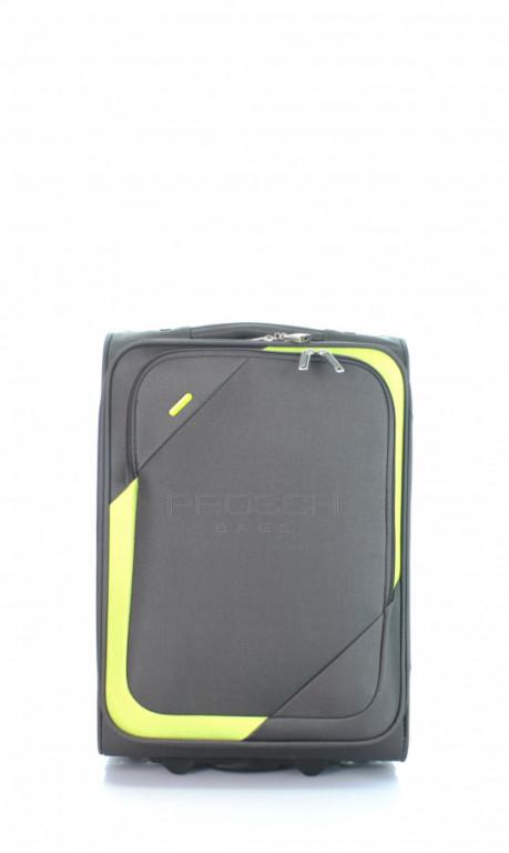 Kabinový cestovní kufr D&N 7250-13 šedo-zelený