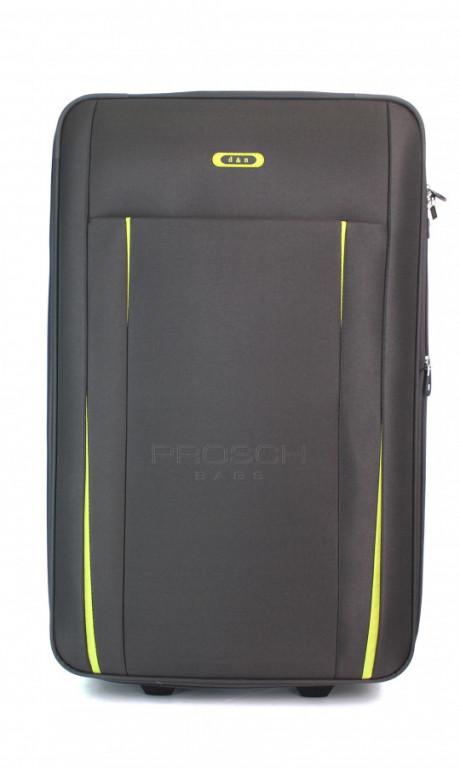 Velký cestovní kufr D&N 9370-13 šedý/zelený