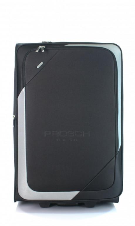 Velký cestovní kufr D&N 7270-01 černo-šedý