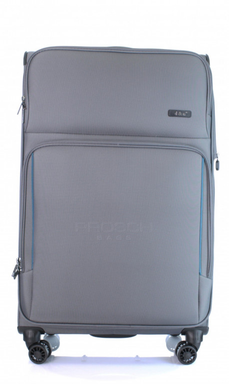 Velký cestovní kufr D&N 7974-13 tmavě šedý