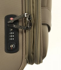Velký cestovní kufr EPIC Quantum béžový č.7