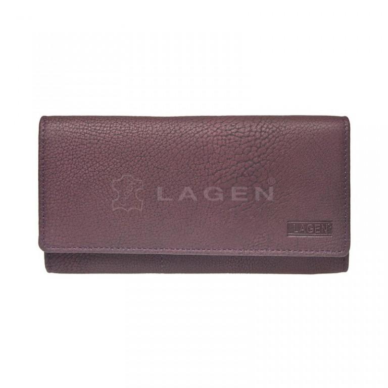 Dámská kožená peněženka LAGEN V-102/W fialová