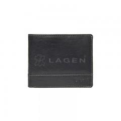 Pánská kožená peněženka LAGEN V-76/T černá č.1