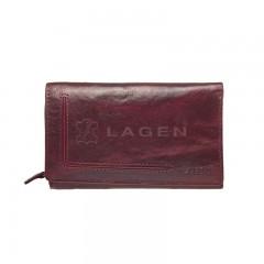 Dámská kožená peněženka LAGEN HT-32/T tm.červená č.1